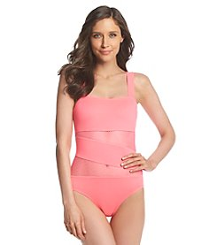 DKNY Mesh Splice Maillot One-Piece