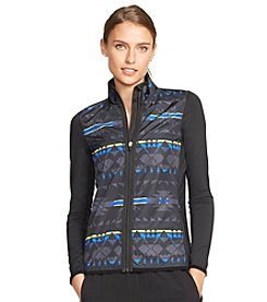 Lauren Active® Printed Jersey Mockneck Jacket