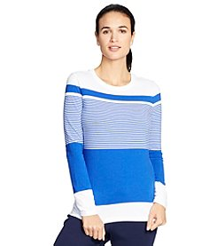 Lauren Active® Striped Stretch-Cotton Tee