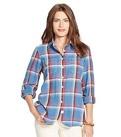 Lauren Jeans Co.® Cotton Twill Plaid Shirt