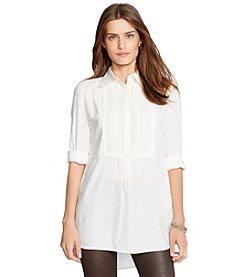 Lauren Jeans Co.® Pintucked Twill Tunic
