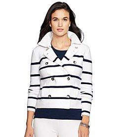 Lauren Ralph Lauren® Stripe Sweater Jacket
