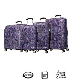 Ricardo Beverly Hills Mar Vista Purple Paisley Hardside Luggage Collection