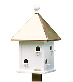 Good Directions® Lazy Hill Square Bird House with Polished Copper Roof