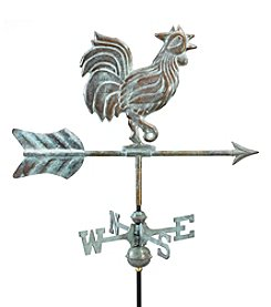 Good Directions® Blue Verde Copper Rooster Weathervane