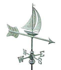 Good Directions® Garden Blue Verde Sailboat Weathervane