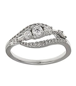 Fine Jewelry 0.52 ct. t.w. Diamond Ring in 10k White Gold