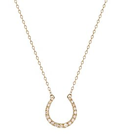 0.10 ct. t.w. Diamond Horseshoe Necklace in 10K Yellow Gold
