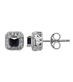 Sapphire Earrings in 10K White Gold