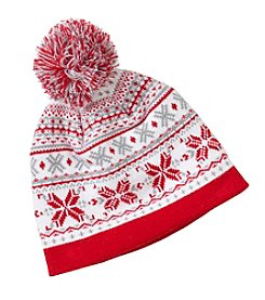 Mambo® Baby Fair Isle Beanie and Mitten Set