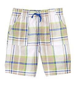 mix&MATCH Boys' 4-7 Plaid Pull On Shorts