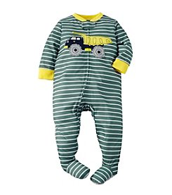 Carter's® Boys' 12M-4T One Piece Dump Truck Striped Sleeper