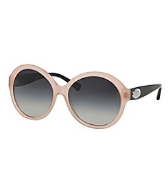 COACH LOGO PLAQUE OVAL SUNGLASSES