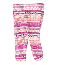 Cuddle Bear® Mix & Match Baby Girls' 3-24 Month Fairisle Pattern Legging