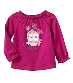 Cuddle Bear® Mix & Match Baby Girls' Santa Owl Ruffled Top