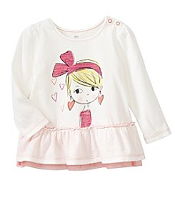 Cuddle Bear® Mix & Match Baby Girls' Ruffle Bow Graphic T-Shirt