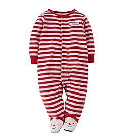 Carter's® Baby Newborn-3M Christmas Velour Snap-Up Sleep & Play