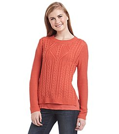 Taylor & Sage™ Layered Look Cable Sweater