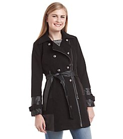 XOXO® Pleather Trench Coat