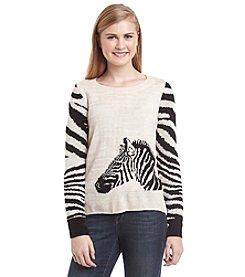 Sequin Hearts® Zebra Pullover