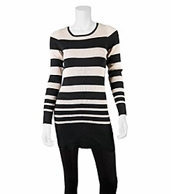 A. Byer Striped Sweater Tunic