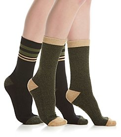 Steve Madden two Pack Stripe Cuff Boot Socks