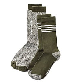 Steve Madden 2 Pack Four Stripe Boot Socks