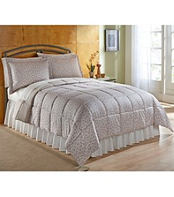 LivingQuarters Reversible Microfiber Down-Alternative Giraffe Comforter - Twin