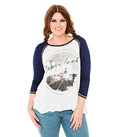 Living Doll® Plus Size Never Look Back Raglan Tee