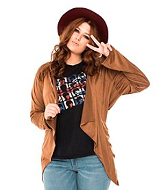Living Doll Plus Size Day Tripper Faux Suede Jacket