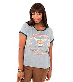 Living Doll Donnafield Graphic Ringer Tee