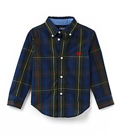 Chaps® Boys' 2T-7 Tartan Plaid Woven Top