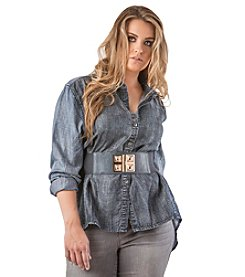 Standards & Practices Plus Size Kristine Tencel Button-Front Shirt