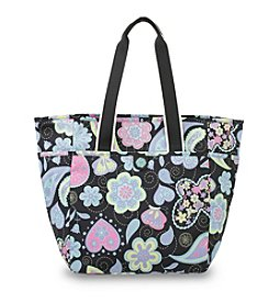 French West Indies Whimsy Paisley Pastel Day Tote