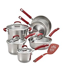 Rachel Ray® 11-pc. Stainless Steel Nonstick Cookware Set