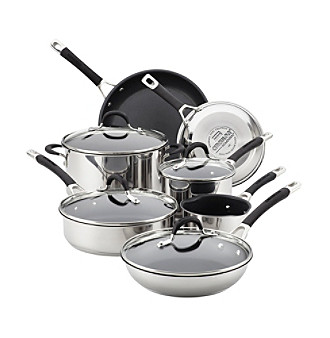 Circulon® Momentum™ Stainless Steel 11-pc. Cookware Set