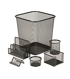 Honey-Can-Do 6-pc. Black Steel Mesh Desk Set