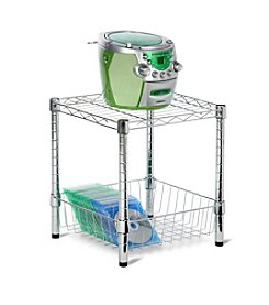 Honey-Can-Do Urban Chrome Stack Table with Basket