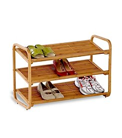 Honey-Can-Do Three-Tier Bamboo Shoe Shelf