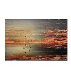 Parvez Taj Night Flight Art Print on Premium Canvas
