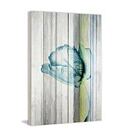 Parvez Taj Water Flower Art Print on White Pine Wood