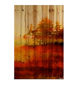 Parvez Taj Kenora Art Print on Natural Pine Wood