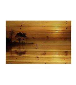 Parvez Taj Vaughan Art Print on Natural Pine Wood