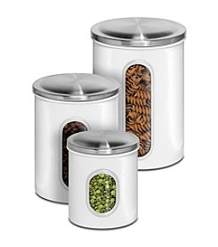 PURELIFE™ by Ragalta® 3-pc. Stainless Steel White Canister Set