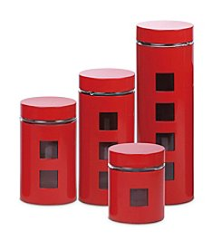 PURELIFE™ by Ragalta® 4-pc. Steel and Glass Canister Set