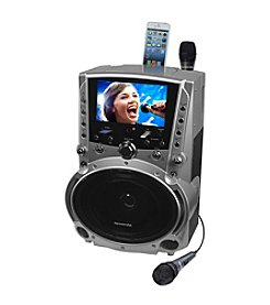 Karaoke USA DVD/CD+G/MP3+G Bluetooth Karaoke System with 7
