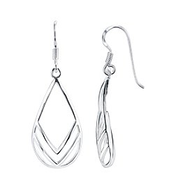 LArocks® Sterling Silver Chevron Teardrop Earrings