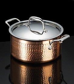 Lagostina® Martellata Tri-Ply Copper 5-Qt. Stewpot