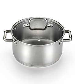 T-fal® Precision Ceramic Stainless Steel 5-Qt. Stock Pot