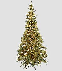 LivingQuarters 9' Artificial Prelit Poplar Valley Pine Tree